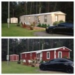 Mobile home makeover in Jacksonville FL