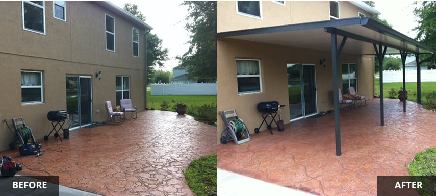 Patio Roof Covers in Jacksonville FL by M. Daigle and Sons