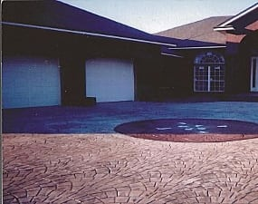 m daigle and sons services on a decorative concrete