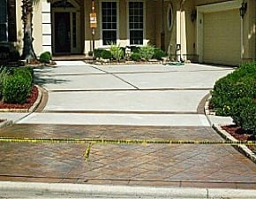 an image of a decorative concrete after m daigle and sons services