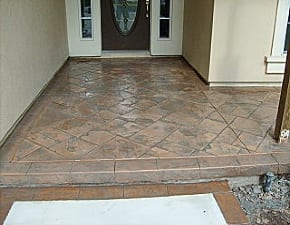 decorative concrete after m daigle and sons services