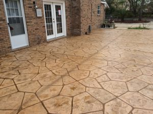 a photo of a beige decorative concrete
